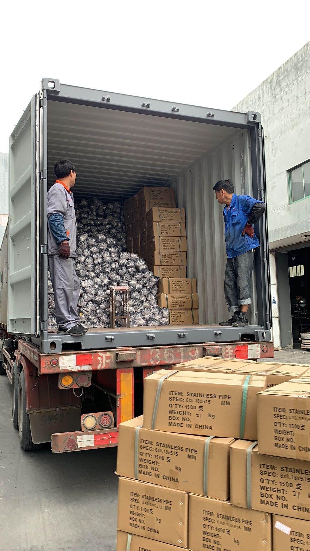 公司为继续日本客户激光切割管集装箱发货(图13)